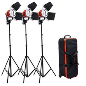 کیت نور پروژکتور 800 وات دیمردار - قیمت پروژکتور 800 وات - فروش نور ثابت - پروژکتور فیلمبرداری -کیت نور پروژکتور کاسه ای 800