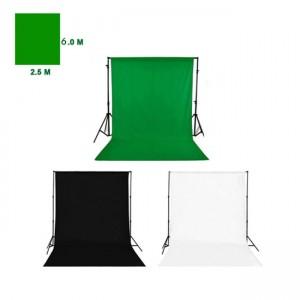 فون عکاسی ارزان - کیت فون پرتابل 3 فون 2.5X6 - - کیت کامل پرده سبز - کیت پرده سبز - پایه کروماکی